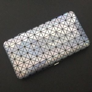 Rue21 Chrome Holographic Geometric Clutch Wallet